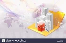 Cgi Stock Chart Data Magnifier Magnifying Stock Photo 136157145 Alamy