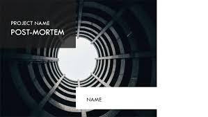 Project Management Post Mortem Template Presentation For Project Post Mortem
