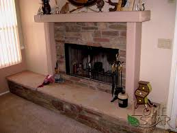stacked stone stacked stone veneer fireplace with flagstone hearth in phoenix az