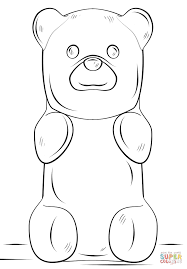 Small Picture Gummy Bear coloring page Free Printable Coloring Pages