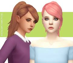 Aveira's Sims 4, Crazycupcake's Olivia Hair - Recolor **Updated...