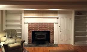 brick veneer fireplace idea