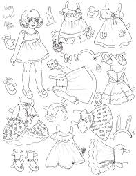 Small Picture paper dolls to cut out and color happy easter paper doll Paper