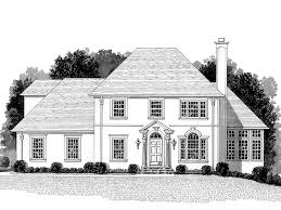 country french two story home