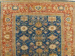 late 19th century antique persian sultanabad carpet handmade oriental rug light blue gold