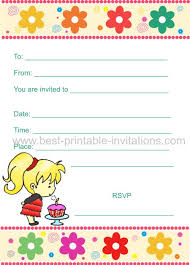 make your own birthday invitations free printable birthday invitations for kids