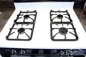 cleaning glass top stove with baking soda and peroxide how to clean a stove top with