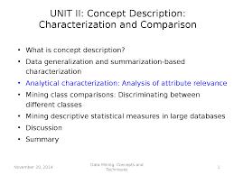 Data Minining Analytical Characterization Docsity