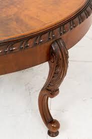 walnut circular coffee table 5 of 5