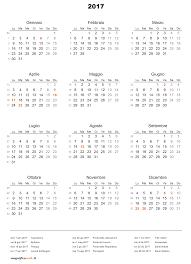 Calendario 2017 Con Festività Da Stampare In Excel E Pdf