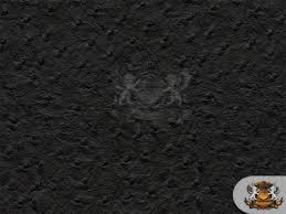 vinyl ostrich emu black upholstery leather fabric 54 wide sold by the yard