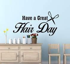 splendid design ideas hair salon wall decor interior designing have a great day decals zoom personalized