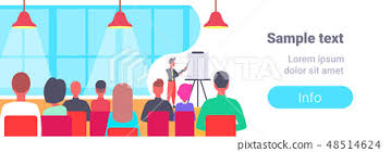 Flip Chart Presentation Sample Businessman Pointing Flip Chart Conference Stock