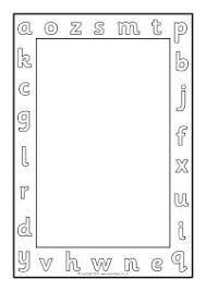 Alphabet A4 Page Borders Black And White Sb11409