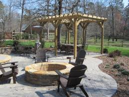 patio with fire pit and pergola. Fire Pit With Patio And Pergola Design S