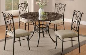 metal chairs dining table. best concept of metal dining table using round marble to chairs h