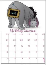 30 Day Disney Countdown Calendars Thedibb