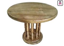 rustic wood round dining table top commercial restaurant tables roman column vintage wooden for rustic wood round dining table