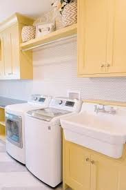 yellow laundry rooms