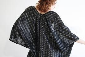 Black Kimono Cardigan Kimono Robe Kimono Jacket Chevron