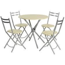Ensemble 4 Places Hêtre Salle à Manger Cuisine 1 Table Ronde 4