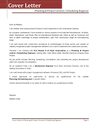 Sports Management Cover Letters Cover Letter Project Scheduler Professional Cover Letter