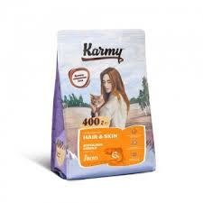 Карми <b>Корм сухой Hair</b> Skin для кошек, поддерживающий ...