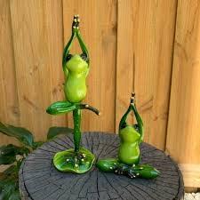4pc yoga posing frog figurine