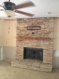 air stone fireplace surround