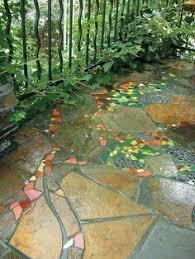 Mosaic Garden Path  Beneath The FernsMosaic Garden Path