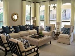 Living Room Color Schemes Beige Couch Elegant Nautical Furniture Decor With White Off Curtains On The