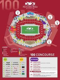 Atlanta Falcons Seating Chart Mercedes Benz Falcons Stadium Seating Chart Seating Chart