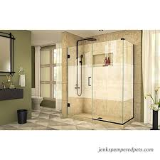 dreamline shen 24560300 hfr 09 frameless hinged shower enclosure satin black b075nzy52j