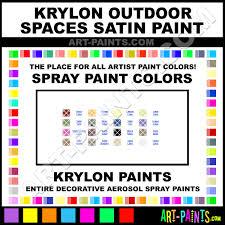 Krylon Outdoor Spaces Color Chart Krylon Outdoor Spaces Satin Spray Paint Aerosol Colors