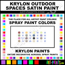 Krylon Spray Paint Color Chart Krylon Outdoor Spaces Satin Spray Paint Aerosol Colors