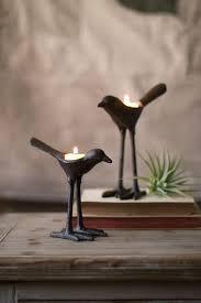 Iron Tea Light Holders Kalalou Cast Iron Bird T Lite Light Holders Set Of 2