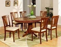 delightful decoration oval dining table set for 6 east west furniture avon7 sbr c 7pc oval