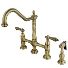 be elegant antique brass kitchen faucet with