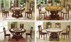 elegant dining table with rotating center