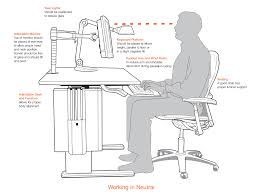 ergonomic desk setup. Ergonomics | BI Watercooler You Standing Desk Ergonomic Setup