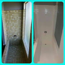 Shower Makeover Using Rustoleum Tub And Tile Paint Turned