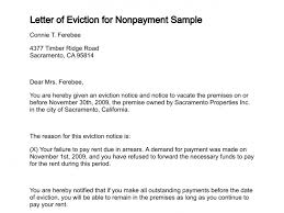 Rent Notice Letter Letter Of Eviction