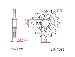 picture of honda adv 750 x adv 17 sprocket front less 2 teeth jt