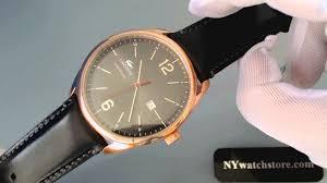 men s black lacoste austin leather strap watch 2010747