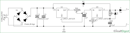 12v battery charger circuit diagram using lm317 12v battery charger circuit using lm317