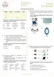 5. Sınıf Fen Bilimleri