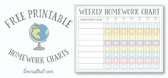 Free Homework Chart Homework Reward Charts Free Printables Live Craft Eat