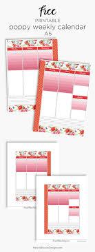 Poppy Weekly Calendar | Printable Planner Inserts – Hanna Nilsson Design