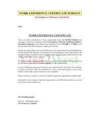 Sample Certification Letter From School Fresh Experienc As Sample