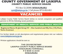 2017 Laikipia County Government Registered Nurses Massive ...
